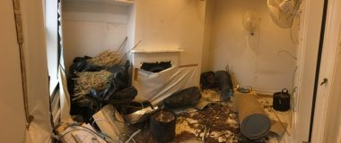 property filled with rubbish before clearance